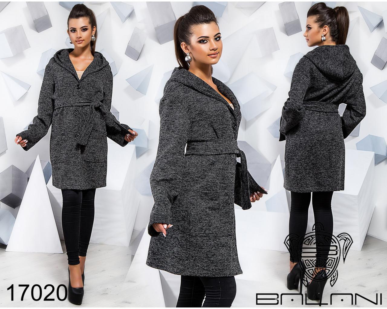 Пальто с капюшоном - 17020