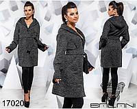 Пальто с капюшоном - 17020, фото 1