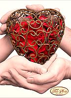 Схема для вышивки бисером Одно сердце на двоих ТД-014