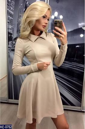 Короткое приталенное платье, фото 2