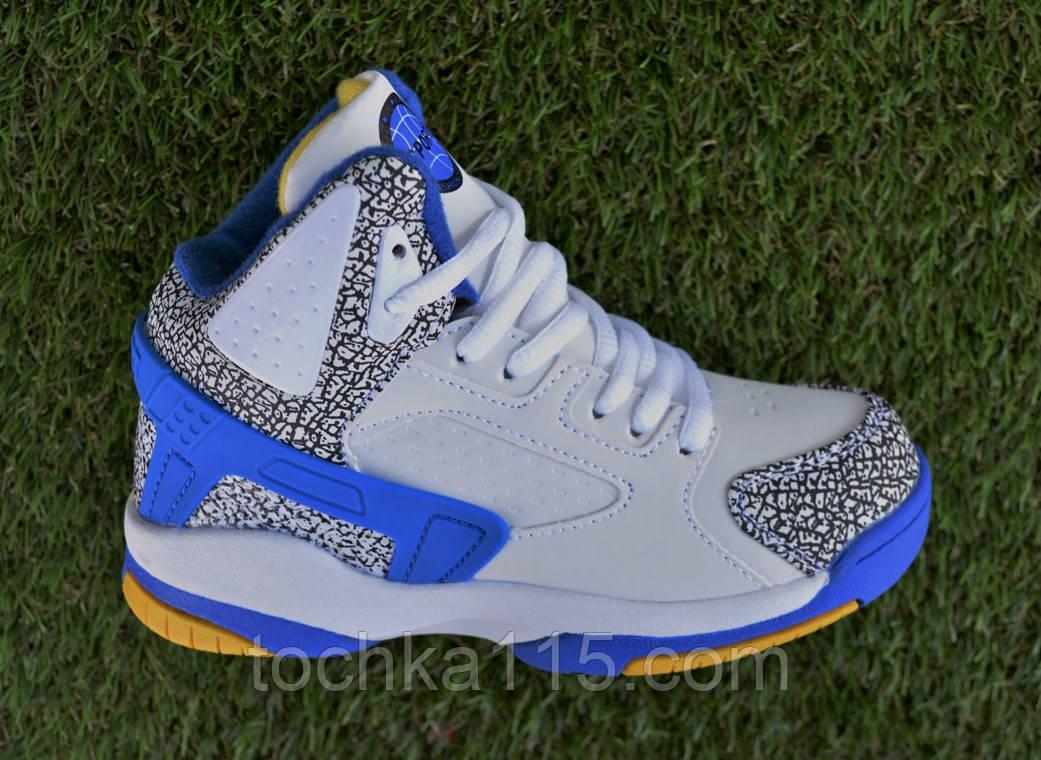 Детские кроссовки найк Nike air jordan blue синие 31-36, копия