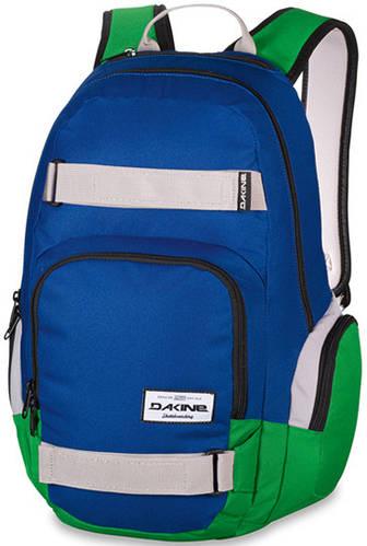 Мужской городской рюкзак с фиксаторами для скейта Dakine Atlas 25L Portway 610934865509 синий