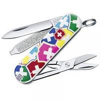 Нож Складной Мультитул Викторинокс Victorinox CLASSIC VX COLORS (58мм, 7 функций), с чехлом 0.6223.841
