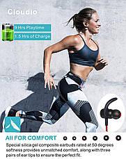 Bluetooth наушники CLOUDIO для спорта влагозащищенные с микрофоном, фото 3