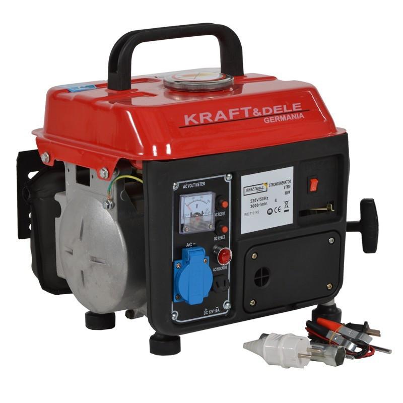 Электрогенератор бензиновый  Kraft&Dele  1200W 12/230V