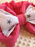 Бант + резинка для конверта на виписку. Бант на выписку для новорожденных