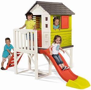 Детский садовый домик горка SMOBY