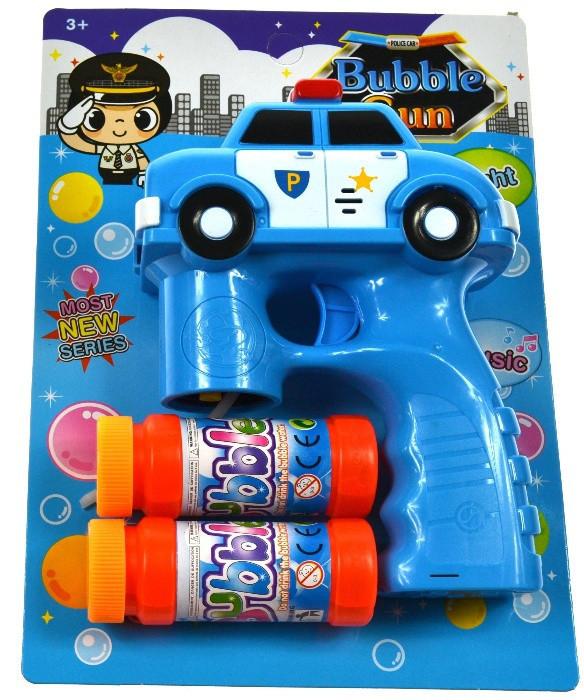 Пистолет для пускания мыльных пузырей, ПУЗЫРИ + 2 жыдкости, ЗВУКИ!