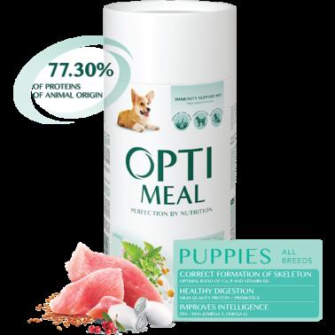 Полнорационный сухой корм Optimeal для щенков всех пород - индейка, 12 кг