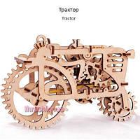 Механические 3Д пазлы модель Трактор Ukrainian Gears