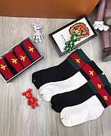 Носки Gucci копия реплика черные белые хлопок в двух цветах