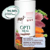 Беззерновой полнорационный сухой корм Optimeal для взрослых собак всех пород - утка и овощи, набор (1+1) 1.3кг