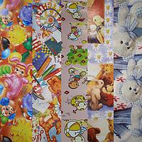 Детская подарочная бумага МИКС в ассортименте