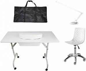 Набор косметический (столик + стульчик + лампа)