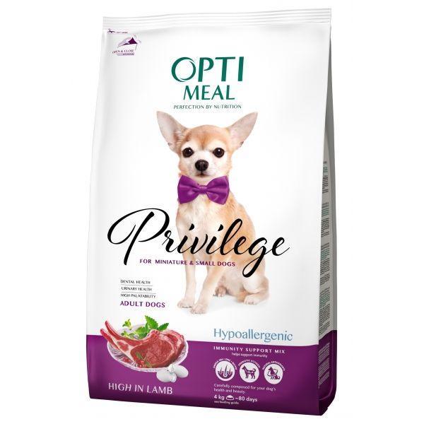 Беззерновой сухой корм Optimeal Гипоалергенный сухой корм для собак малых пород с ягненком, 1.5 кг