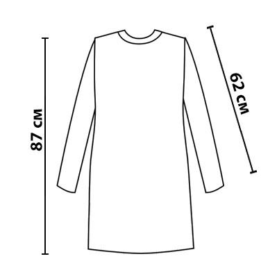 Размерная сетка на платье Маки