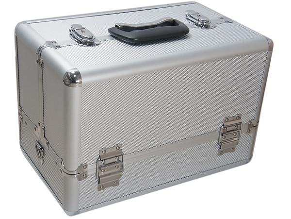 Косметический кейс серебряный 360x220x240