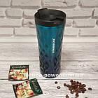 Термокружка Starbucks 500 мл 3D Градиент. Термостакан Старбакс Синий градиент, фото 8