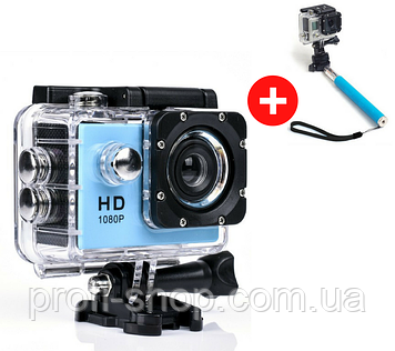 Экшн камера Sports Cam FullHD 1080p 2' экран A9 Action camera водонепроницаемый бокс А9 Waterproof 30m