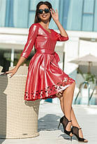 Женское Платье (141)669. (5 цветов) Ткань: креп с блестящим напылением + перфорация.  Размеры: 44 - 54., фото 3