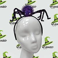 Шляпка на ободке Паук фиолетовый
