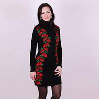 Черное платье с маками в Украине. Сравнить цены 8362578d9a9d9