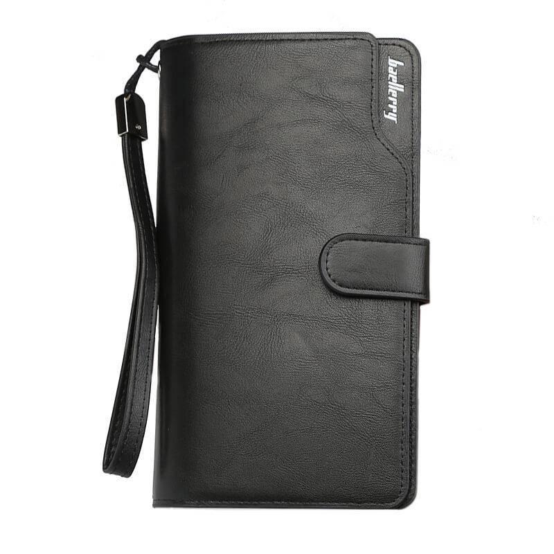 Мужской кошелек, портмоне Baellerry Business New эко-кожа черный