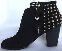 Ботинки женские, ZARA, осенние, большой размер, натуральная замша,размер, 39/40, фото 1