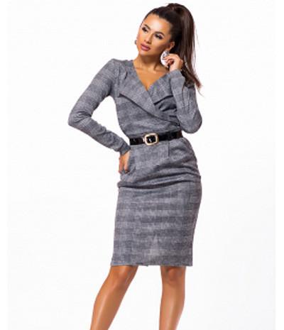 c9bf7c60ebe Деловое женское платье с поясом 823236 - СТИЛЬНАЯ ДЕВУШКА интернет магазин  модной женской одежды в Киеве