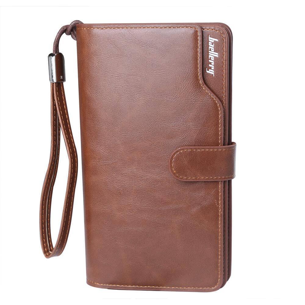 Мужской кошелек, портмоне Baellerry Business New эко-кожа коричневый