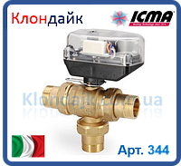 Icma Шаровой зонный вентиль с функцией разделителя потока. с сервомотором 3/4