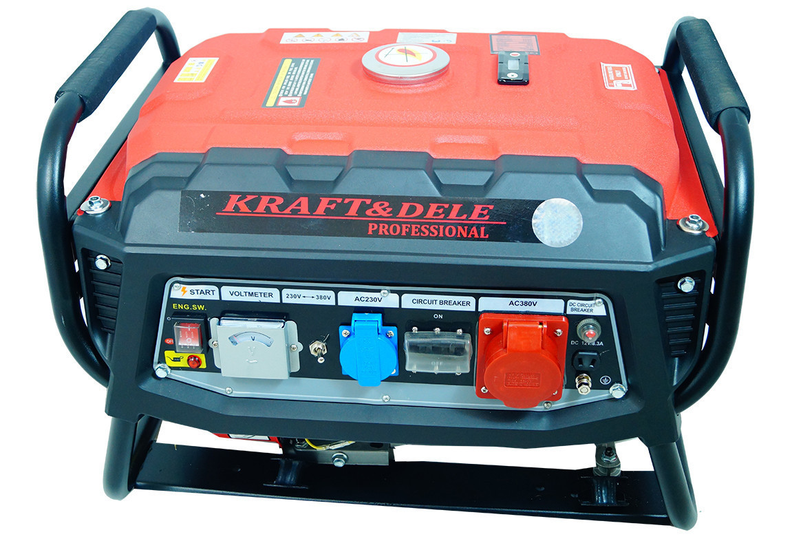 Генератор Kraft & Dele 3000 Вт 12 / 230 / 380V