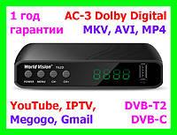 DVB-T2/C тюнер World Vision T62D - Т2+YouTube+IPTV