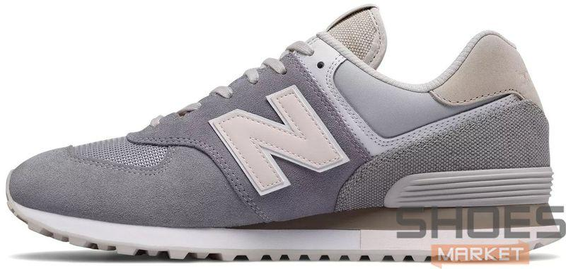 Женские кроссовки New Balance 574 grey,  нью беланс 574