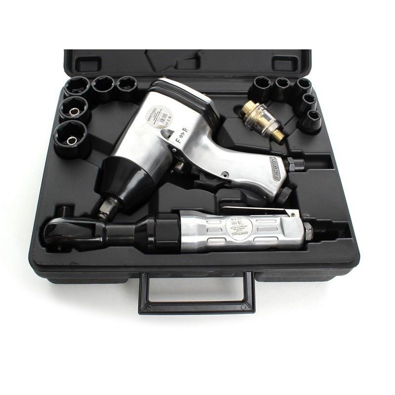 Пневматический гайковерт комплект Kraft&Dele с трещоткой LX-005