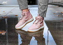 Жіночі кросівки Nike Lunar Force 1 Duckboot Particle Pink/Particle Pink/Black AA0283-600, Найк Аір Форс, фото 2