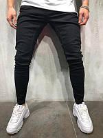 😝 Джинсы - Черные мужские джинсы В34607