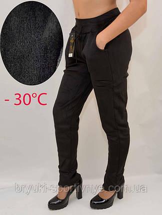 Брюки женские зимние - велюр на меховой подкладке, фото 2