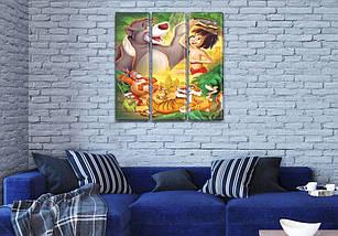 Модульные картины в комнату детскую, 95x95 см, (95x30-3), фото 3