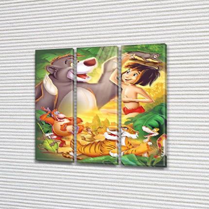 Модульные картины в комнату детскую, 95x95 см, (95x30-3), фото 2