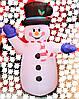 Новогодняя Надувная Фигура Снеговик Надувной 180 см для Атмосферы Нового Года Рождества, фото 5