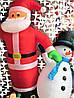 Новогодняя Надувная Фигура Снеговик Надувной 180 см для Атмосферы Нового Года Рождества, фото 6
