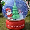 Новогодняя Надувная Фигура Снежный Шар Дед Мороз Снеговик Елка 60 см для Атмосферы Нового Года Рождества, фото 2
