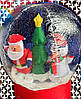 Новогодняя Надувная Фигура Снежный Шар Дед Мороз Снеговик Елка 60 см для Атмосферы Нового Года Рождества, фото 4