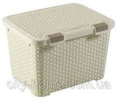 Ящик для хранения вещей Curver Style 43 л. кремовый