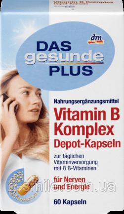 Mivolis DAS gesunde PLUS Vitamin B Komplex Depot-Kapseln, 60 St