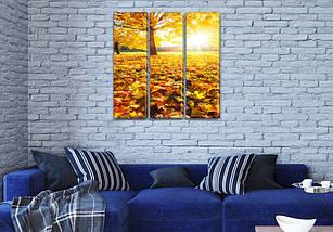 Модульные картины в спальню на Холсте, 95x95 см, (95x30-3), фото 3