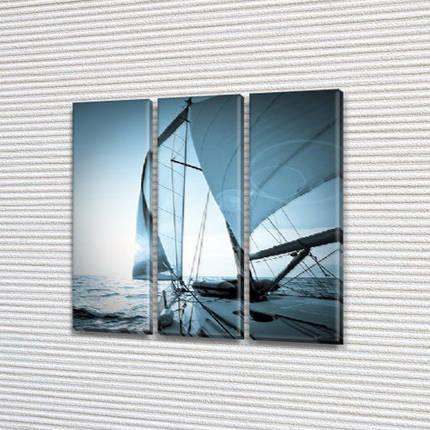 Модульные картины в спальню на Холсте, 95x95 см, (95x30-3), фото 2
