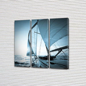 Модульные картины в спальню на Холсте, 95x95 см, (95x30-3)