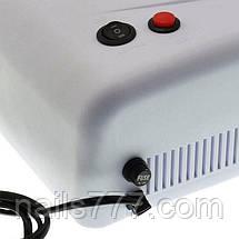 UV лампа для геля, гель лака, шеллака 36 Вт № 818 (белая), фото 2